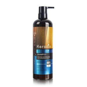 شامپو مو کراتین مناسب موهای آسیب دیده و ضعیف حجم 900 میل